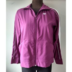 Nike Athletic Jacket Earbuds Channel Size M